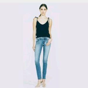 Hudson Collin Flap Skinny Jean In Gray, 28.